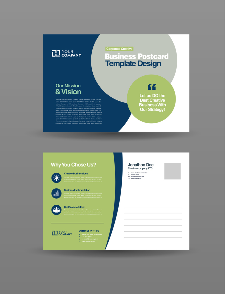 corporate business EDDM postcard