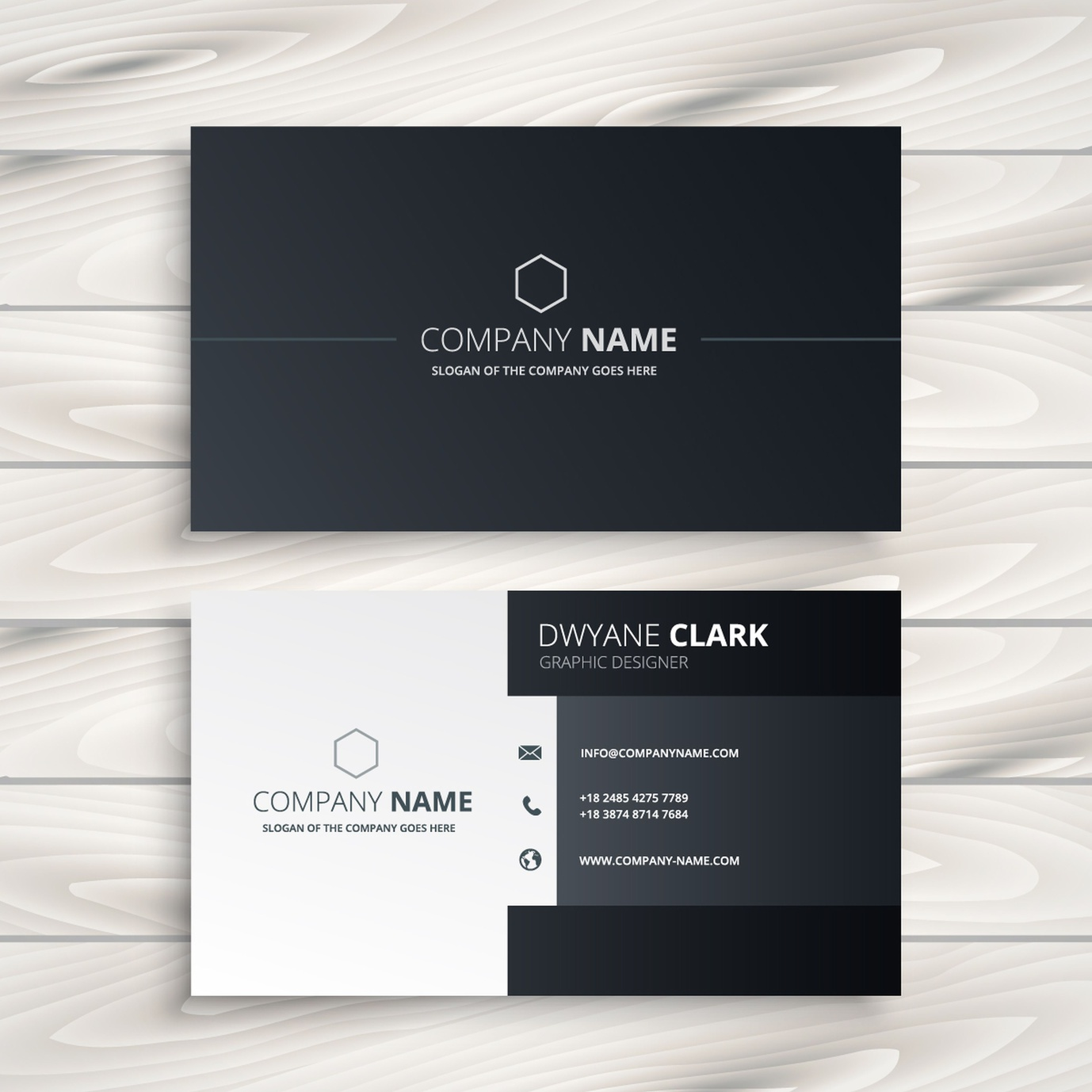 black and white business card templates by Catdi Printing